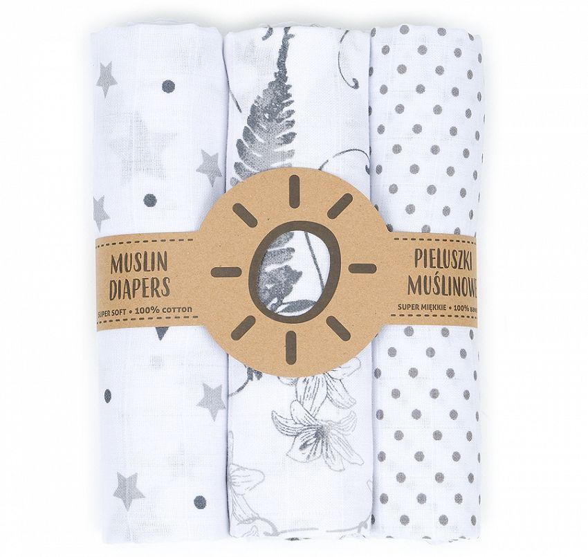 Mamo Tato Pieluszki Muslinowe 3szt 80x80 Myjka Baby Projects Diaper Projects