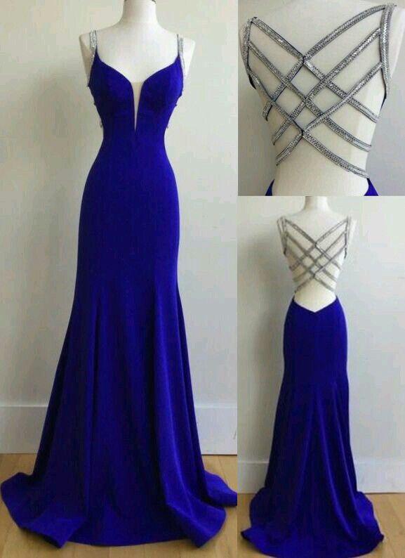 Azul Rey En 2019 Vestidos De Baile Largos Vestido De