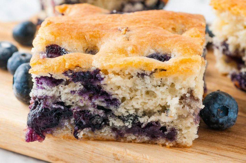 This easy blueberry buttermilk breakfast cake is only 10