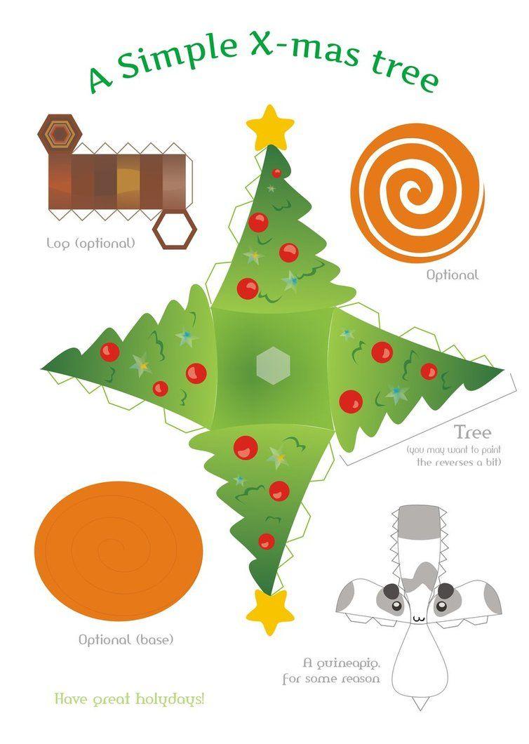 Xmas tree papercraft by kna karácsony pinterest xmas xmas