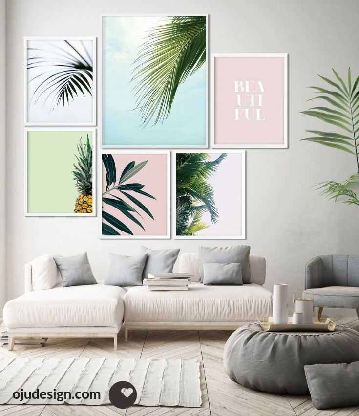 Tropical Print Wall Art Set