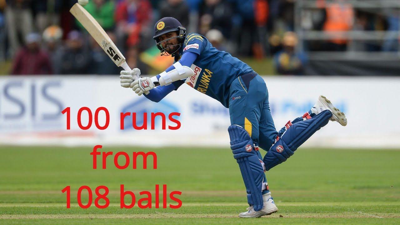 Dinesh chandimal score 100 from 108 ball Sri lanka vs ireland