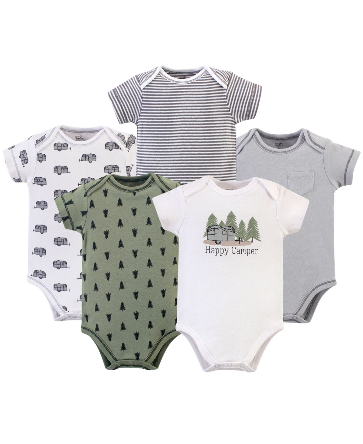 Touched by Nature Baby Boys Organic Cotton Bodysuits T-Shirt Set