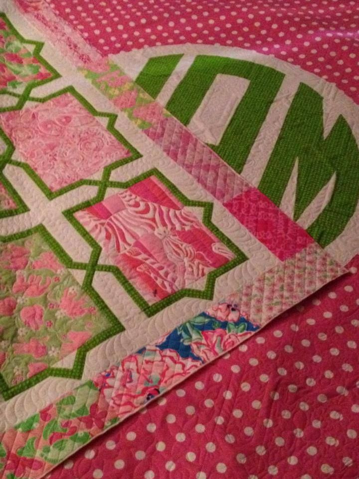 The Lilly Quilt | Finger and Craft : lilly pulitzer quilts - Adamdwight.com