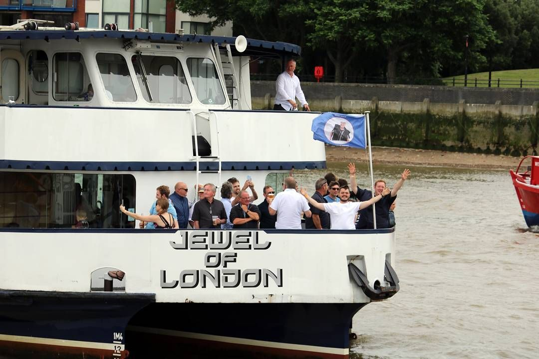 M.V Jewel of London during the Annual Thames Barge Driving Match on Saturday.