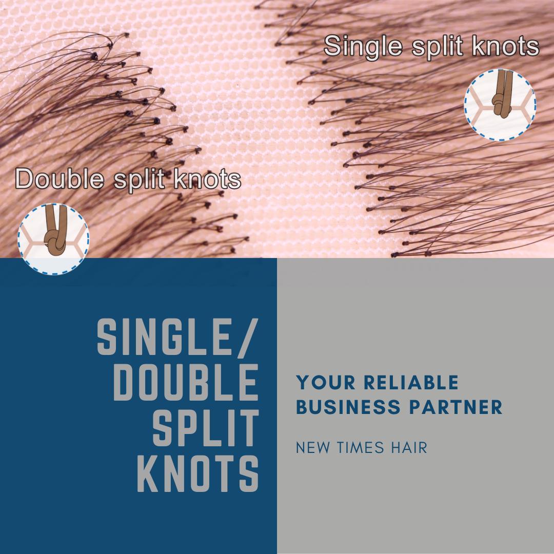 Single Split Knots Vs Double Split Knots In 2020 Hair Replacement Systems Hair Replacement Hair System