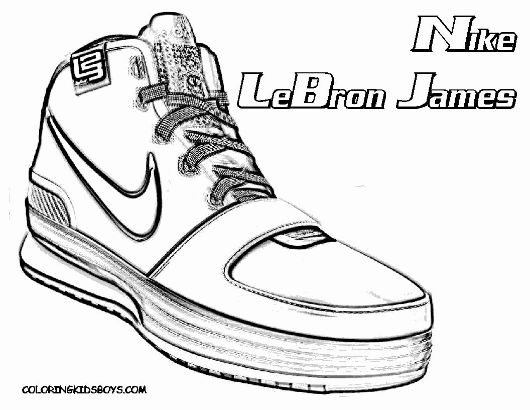 Lebron James Coloring Page Best Of Basketball Players Coloring Page Le Bron James Printable Halloweenfiles Com In 2020 Shoe Sketches Lebron James Shoes James Shoes