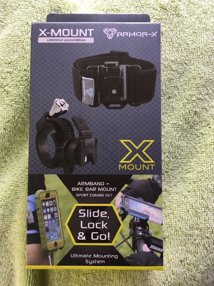 X-MOUNT ARMOR0X ARMBAND + BIKE BAR MOUNT SUPPORT COMBO SET SLIDE LOCK & GO!  | eBay