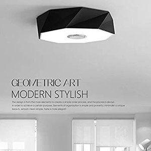 Horevo Ledシーリングライト24wモダンな幾何学的天井照明 リモコン