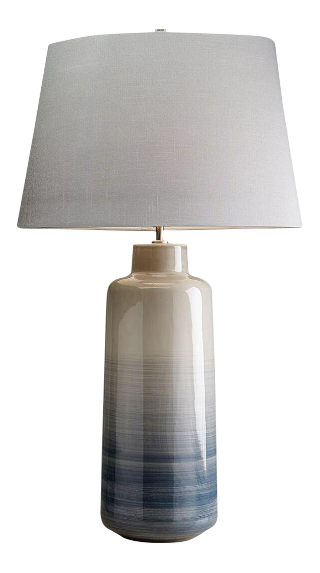 Bacari Large Gray Blue Ceramic Table Lamp In 2019 Wounded