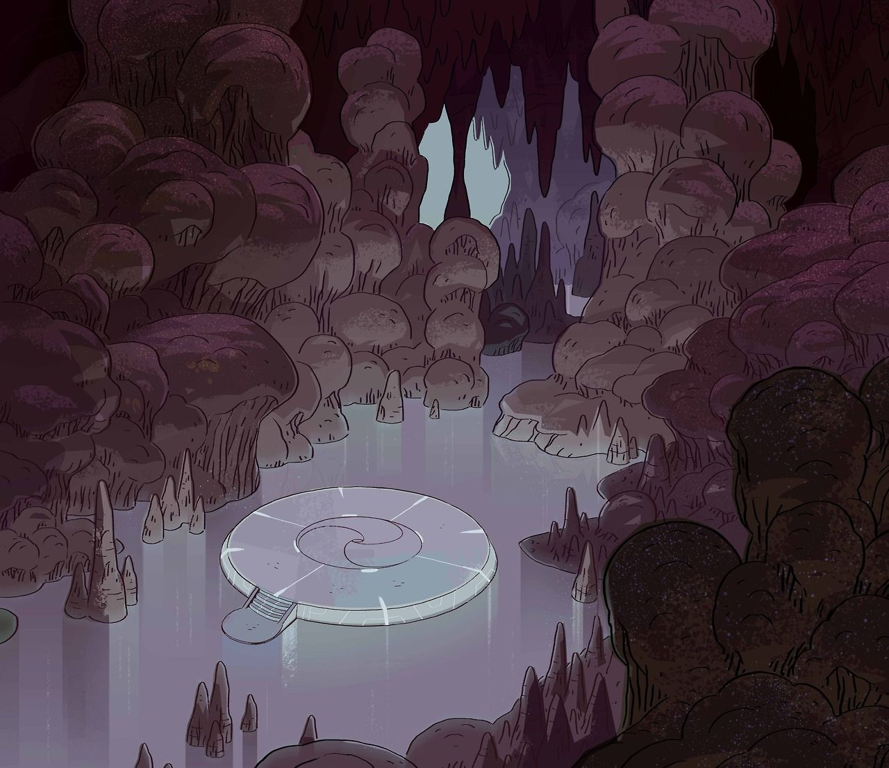 A Selection Of Backgrounds From The Steven Universe Episode Lion