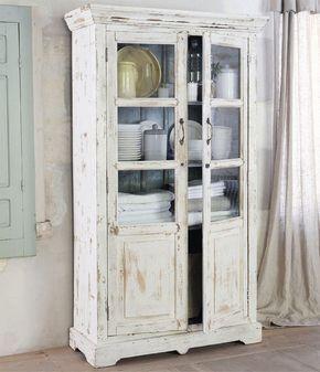 Decora con vitrinas y vitrinas antiguas | Vitrina blanca