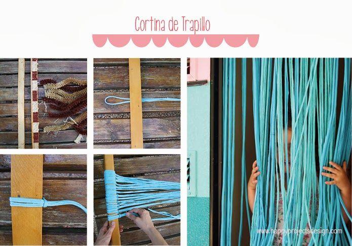 Diy Cortina De Trapillo Para La Caravana El Room