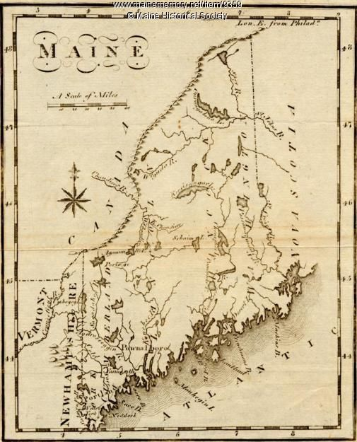 Scott Living Ͽ� The Bedworks Of Maine: Maine, From The United States Gazetteer, 1795