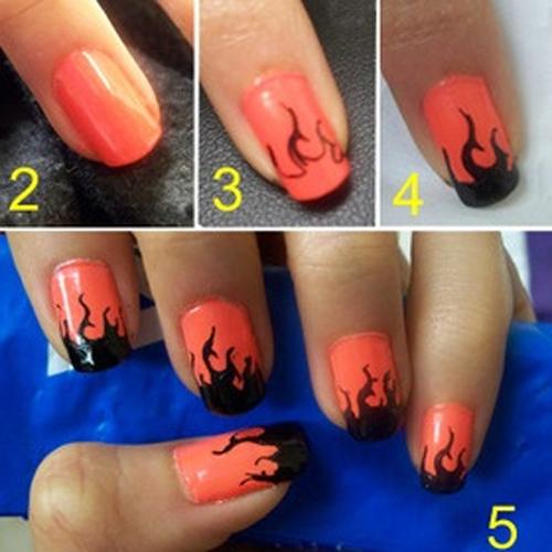 23 Manicures Que Puedes Hacer Con Plumones Arte De Uñas De Gel Diseños De Uñas Con Puntos Uñas Paso A Paso