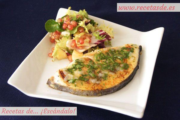 Emperador a la plancha con salsa verde recetas de for Cocinar pez espada