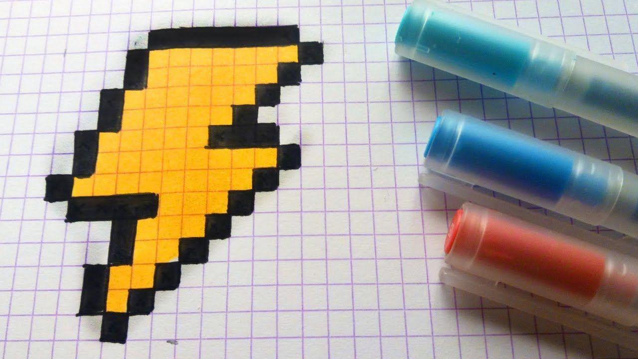 Handmade Pixel Art How To Draw A Thunderbolt Pixelart