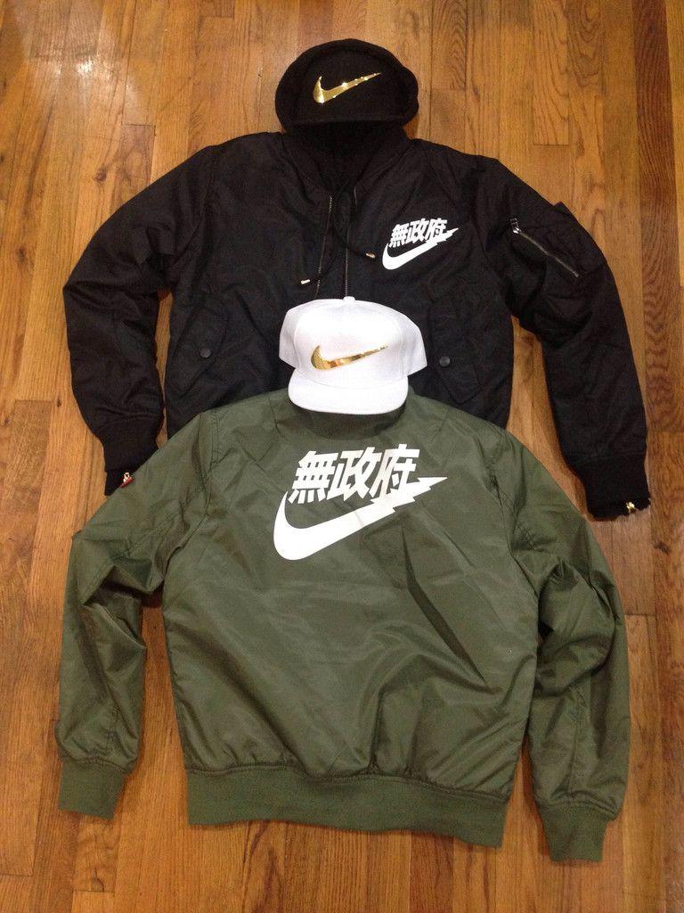 Nike jacket in chinese - Ma 1 Anarchy Bomber Jacket