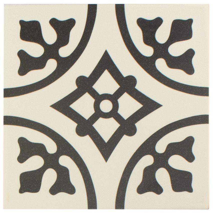 carrelage imitation carreau ciment blanc 20 x 20 cm. Black Bedroom Furniture Sets. Home Design Ideas