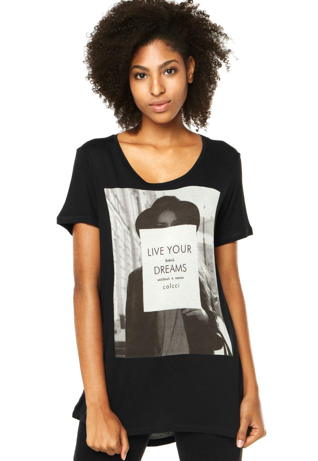 657f955e79 Camiseta Colcci Preta - Compre Agora