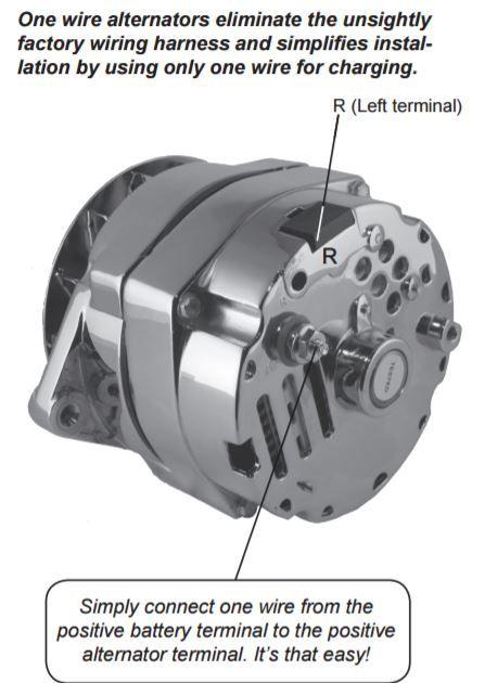 Gm Alternator Wiring : alternator, wiring, Stuff, Shows, Easier, 1-wire, Alternator., Alternator,, Alternator, Repair
