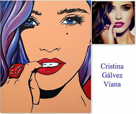Cristina Galvez Viana Pop Art De Foto Artistas Fotos Cómic