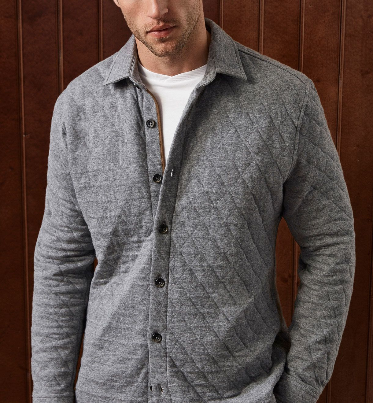LIMITED EDITION QUILTED OVERSHIRT, Casual shirts - MEN - Massimo Dutti
