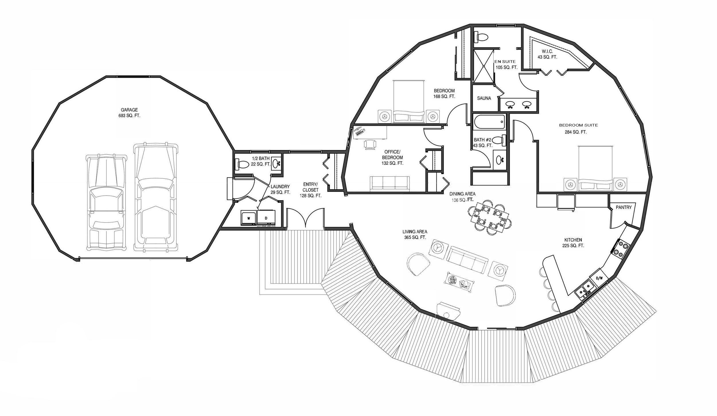 Floorplan Example 1872 sqft