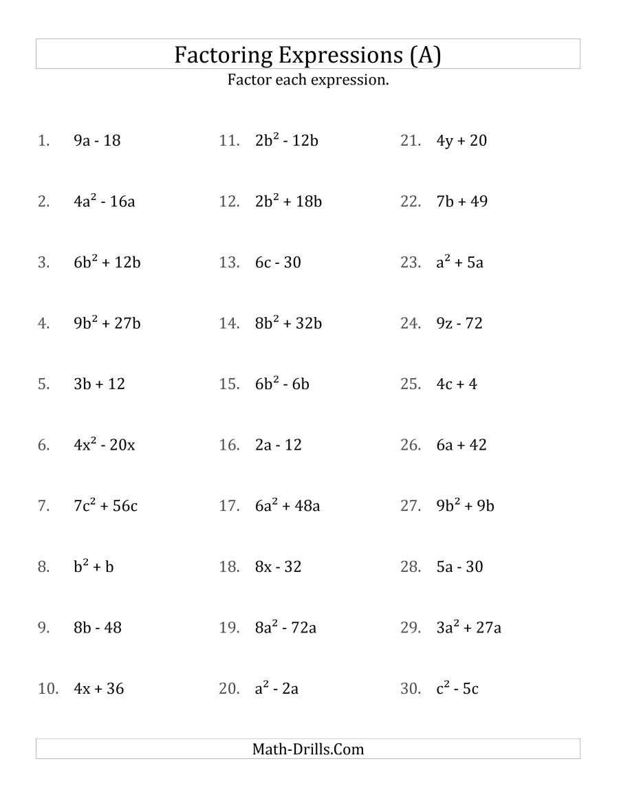 Algebra worksheets with answers Latest