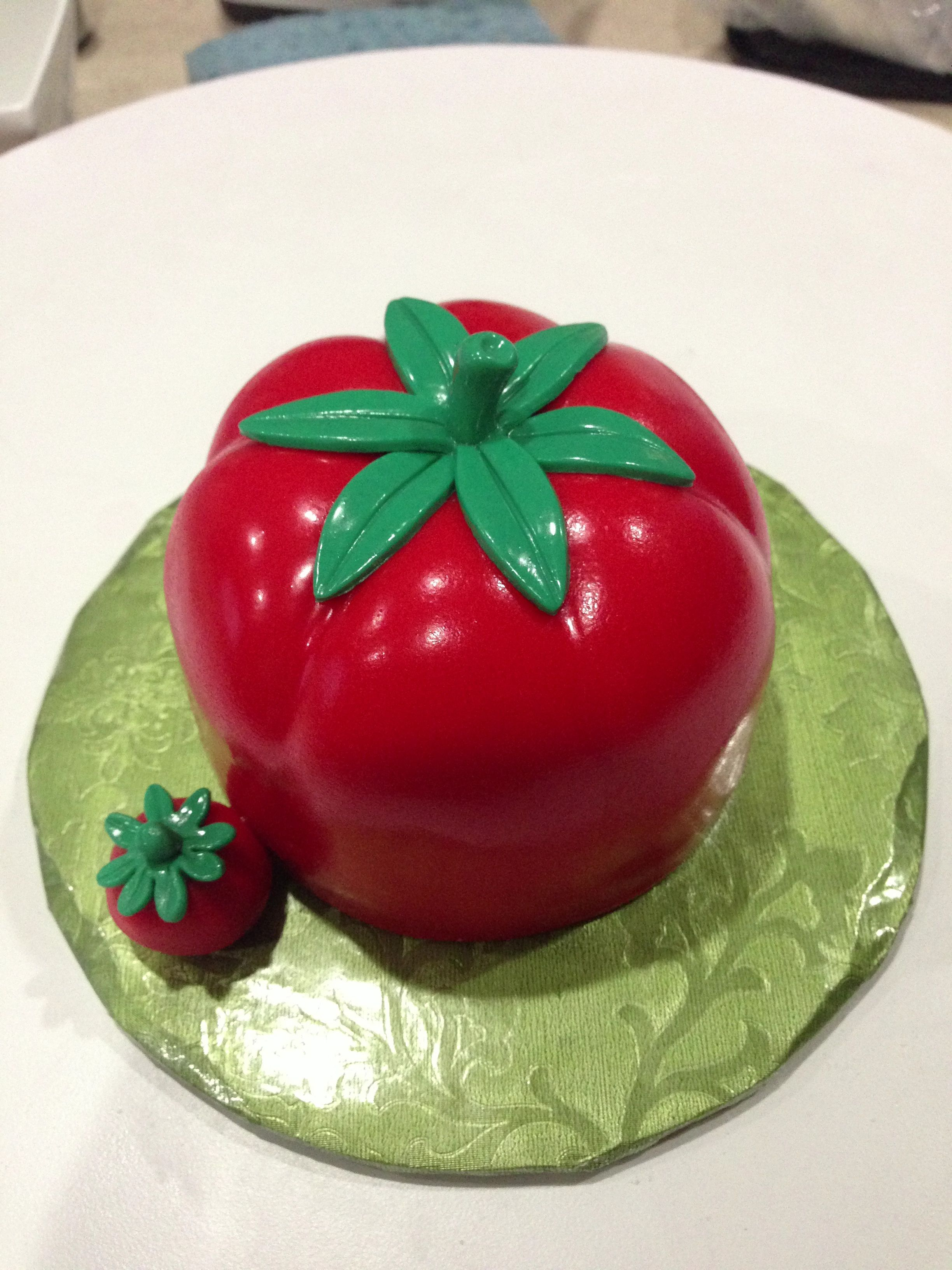 Tomato Shaped Cake Sculpted Cakes Pinterest Cake Sculpted