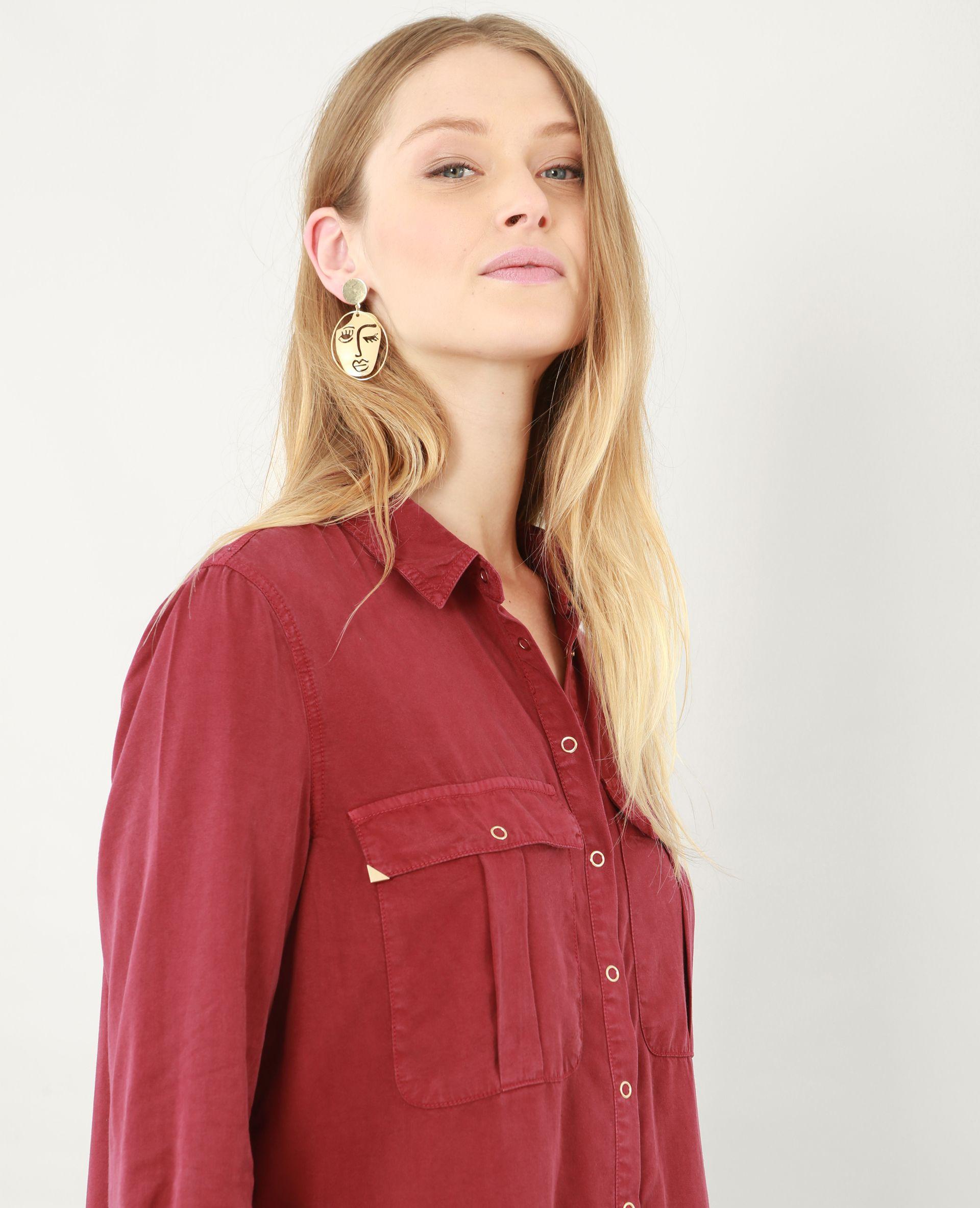 Robe chemise longue bouton pimki