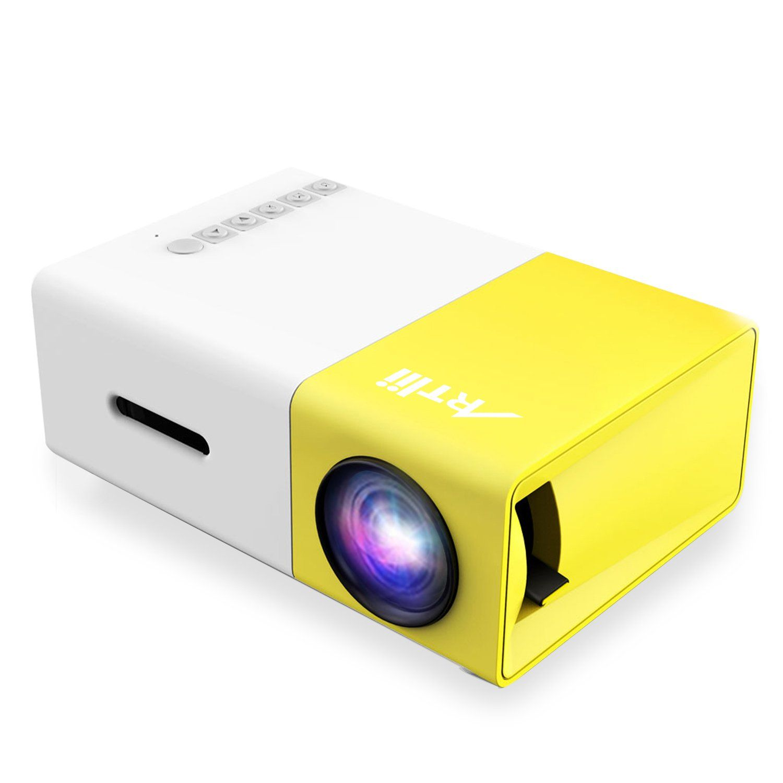 Artlii Fun Projector Mini Home Theater Support 1080P Projector ...