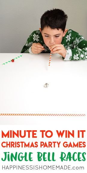 Christmas Minute to Win It Games holiday crafts for kids