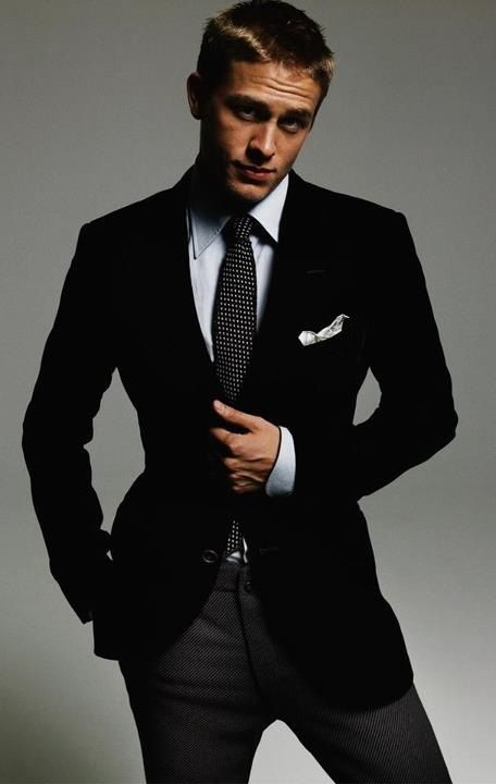 #Charlie_Hunnam - I'm so inlove with this guy... but he doesn't strike me as a #Christian_Grey