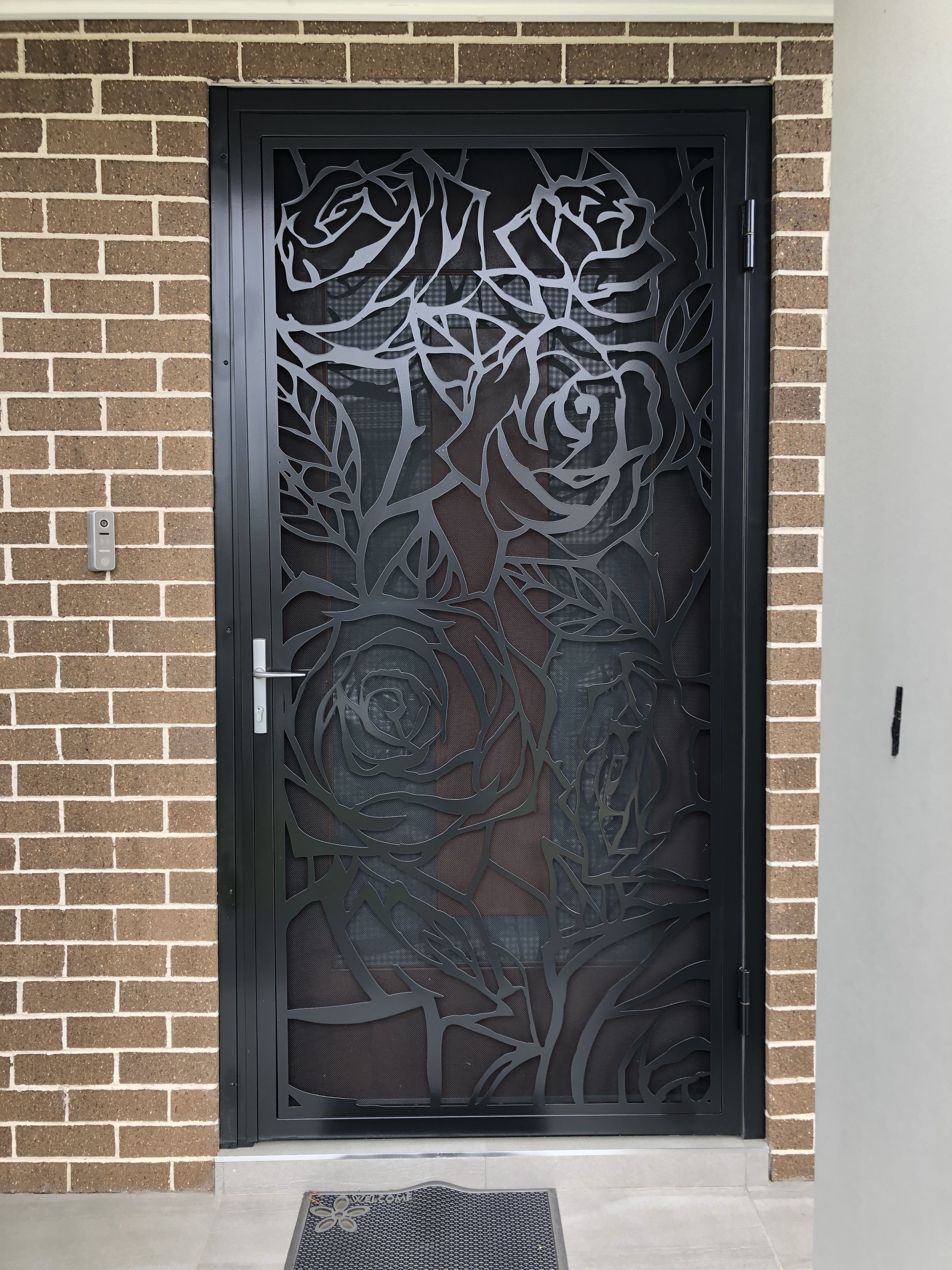 Pin By Asha Latha On Grill Designs Iron Door Design Door Glass