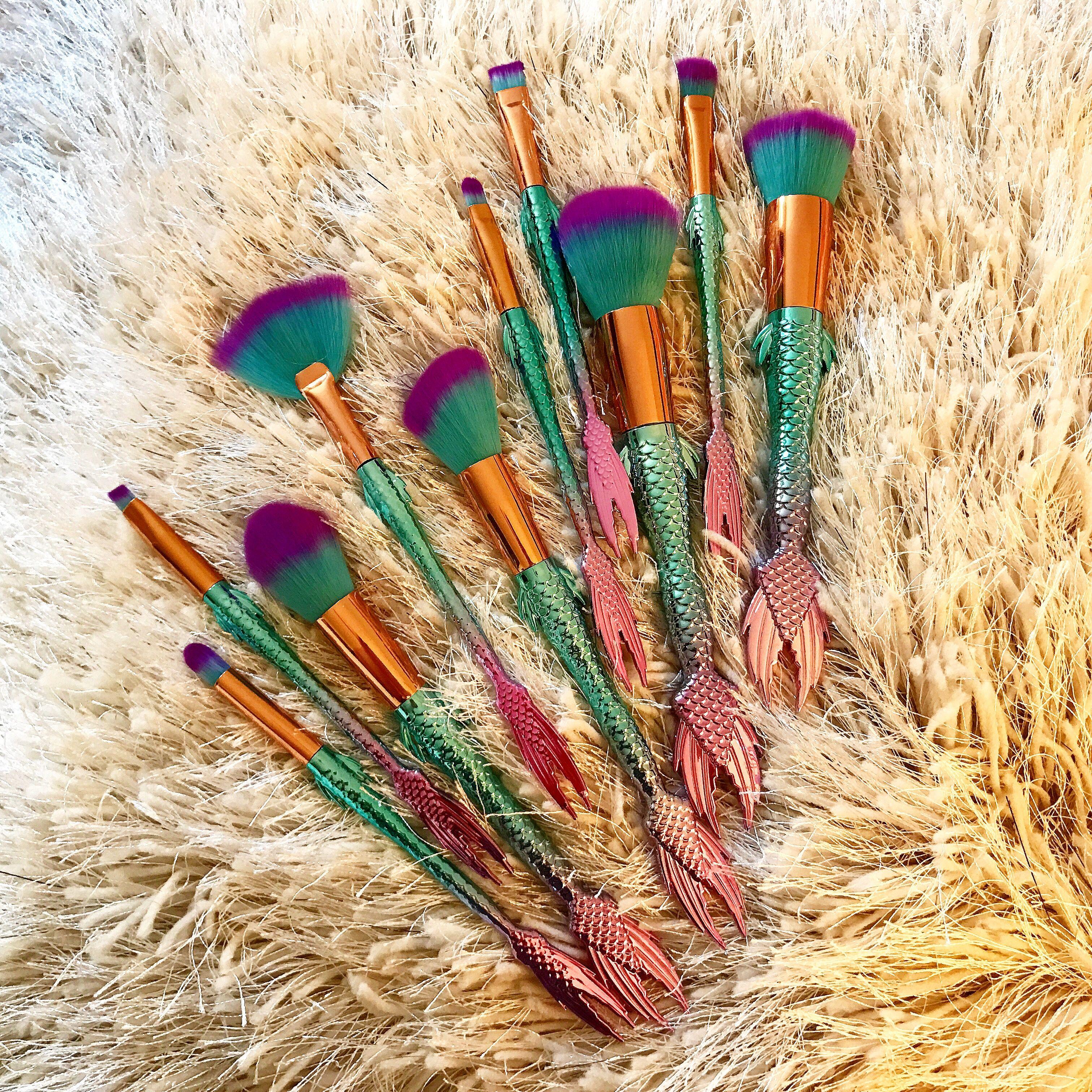 Mermaid brush set. Mermaid brushes Mermaid brush set