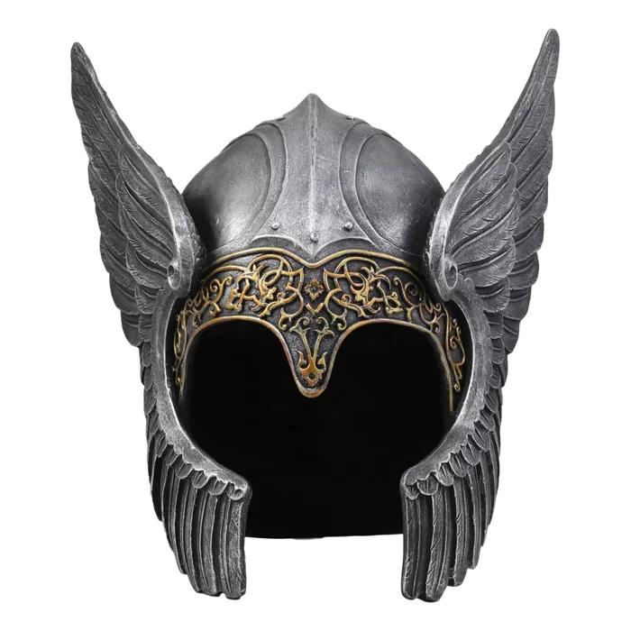 Lagarto Norse Viking Mythology Poetic Edda Goddess Valkyrie Angelic Helmet Decor Asgard Odin S Iron Maiden Chooser Of The Slain Decorative Sculpture Viking Helmet Viking Armor Norse