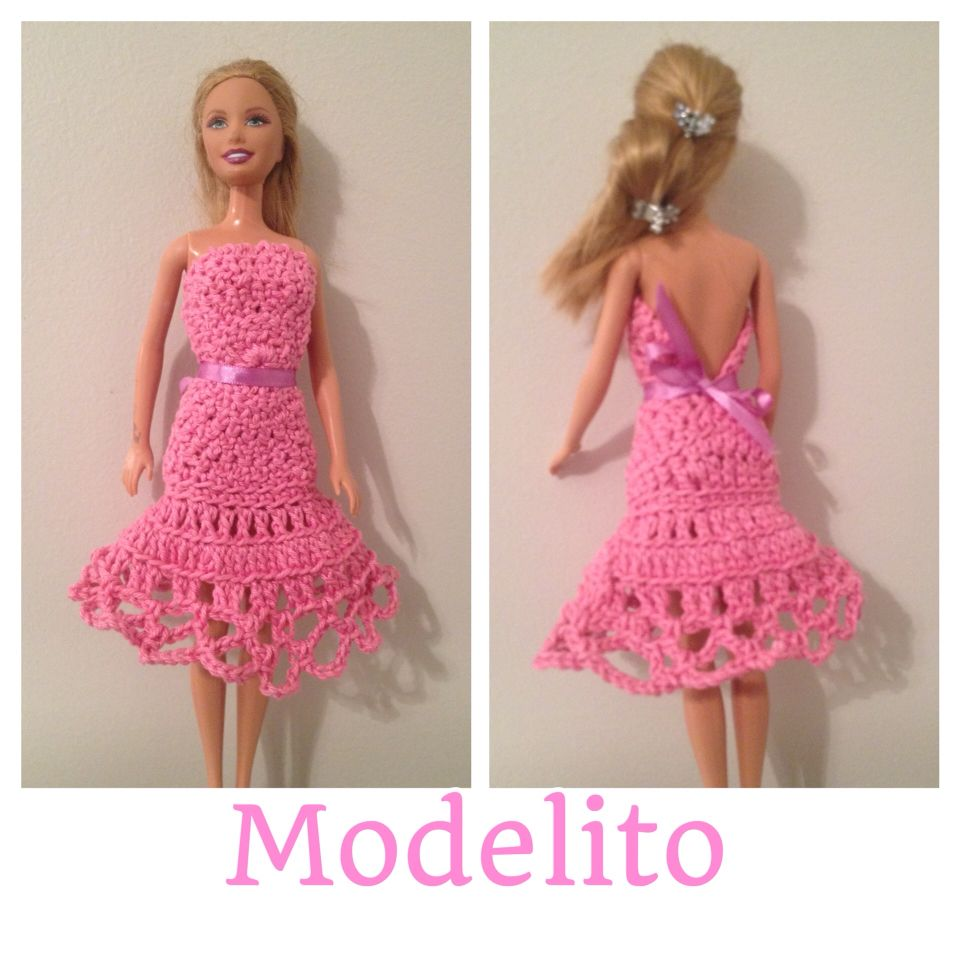 Vestido de croche Barbie | crochet barbie | Pinterest | Barbie ...