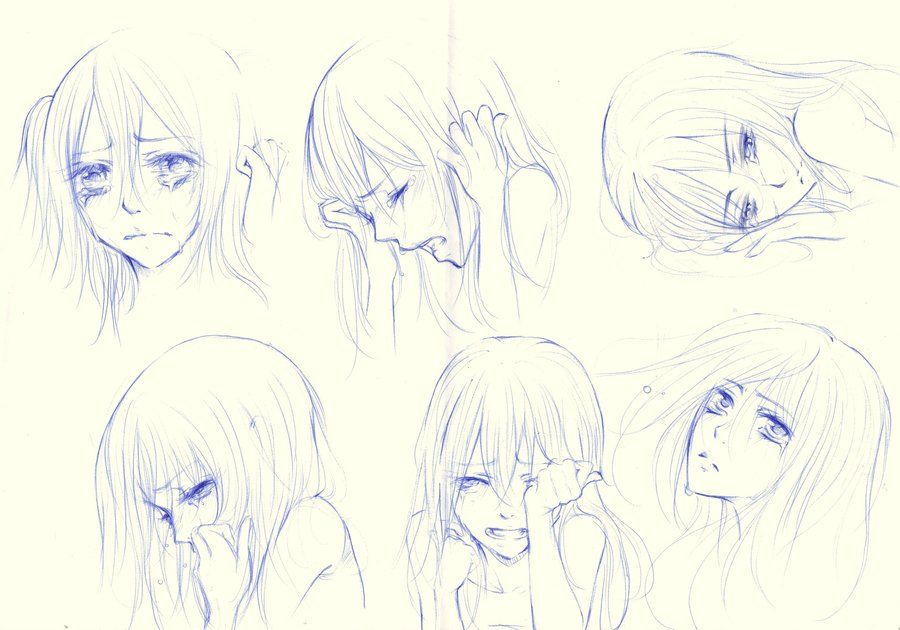 Pin By Aurora On Draw In 2020 Crying Girl Anime Crying Anime Faces Expressions
