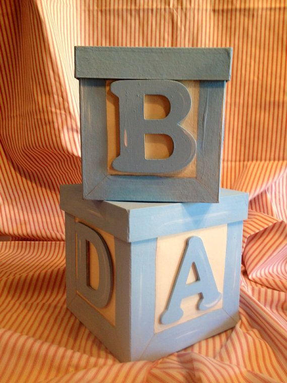 Baby block centerpiece box set by sparemethedetails on