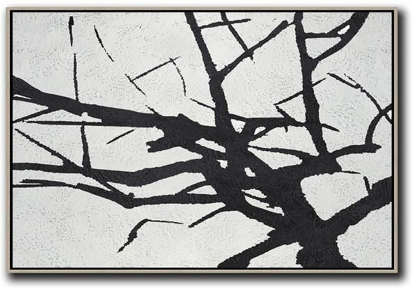 Black And White Abstract Tree Art
