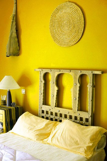yellow bedroom with rustic wood accents see more ways to use yellow rh pinterest com