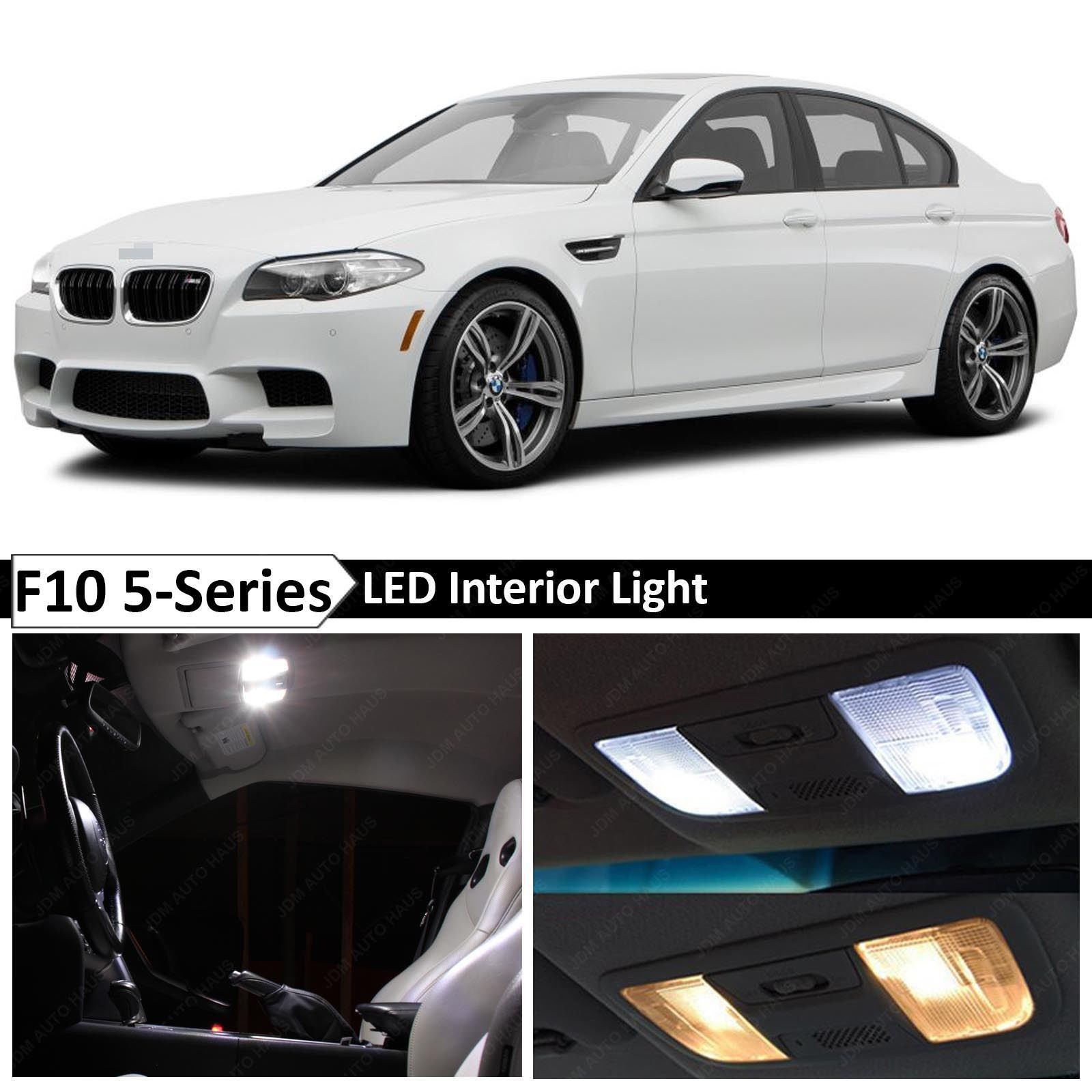 Awesome Awesome White Interior LED Light Package for 2011 2015 BMW 5