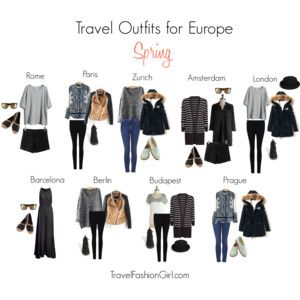 Travel Outfits Europe Spring Packing Pinterest
