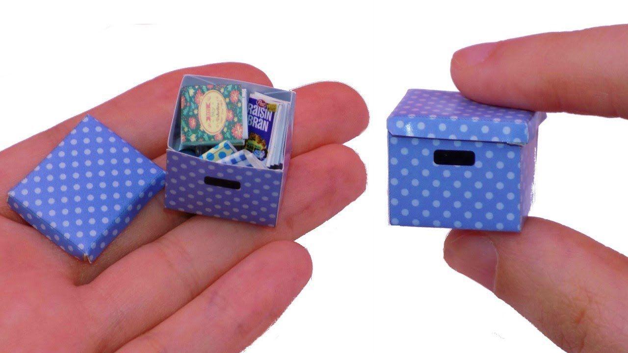 DIY Miniature Paper Storage Box - How to Make Miniature Things