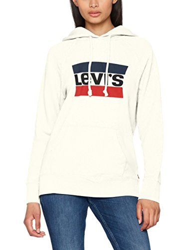 dc1907effd4 Levi s Graphic Sport Hoodie Pull Femme Blanc (Sportswear Hoodiee  Marshmallow 0001) X-Small