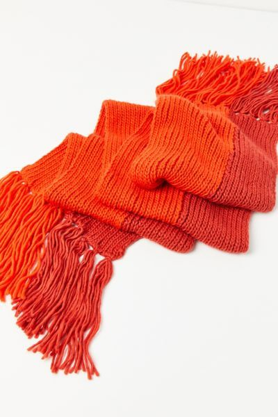 Photo of Extra Large Knit Oblong Tassle Scarf