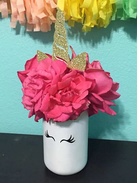 Unicorn centerpieces party horn and