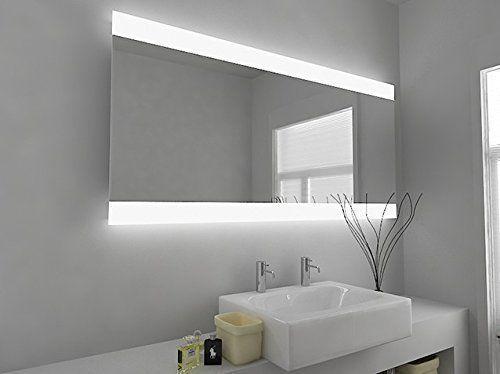 LED Illuminated Bathroom Mirror - Pano 49h h:600 x w:1250 ...