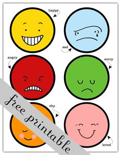 photograph relating to Printable Feelings Faces called A 12 months of FHE: 2011 - Wk 23: Our Inner thoughts Humorous Training